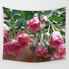 ROSES ARE LOVE Wall Tapestry