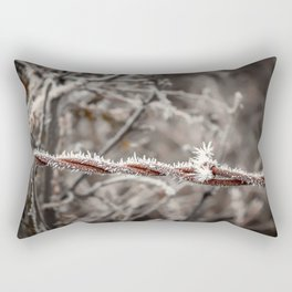Frosty Barbed Wire Rectangular Pillow