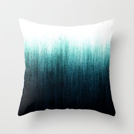 Teal Ombré Throw Pillow