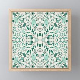 Floral Mix – Teal Framed Mini Art Print