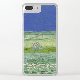 Wheatfield under Thunderclouds Clear iPhone Case