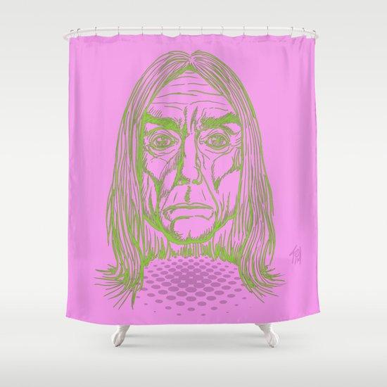 """Ready to Die"" by Tim Lukowiak Shower Curtain"