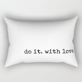 Do i. With Love. Typewriter Style Rectangular Pillow