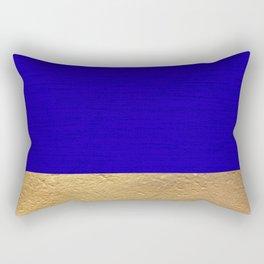 Color Blocked Gold & Cerulean Rectangular Pillow