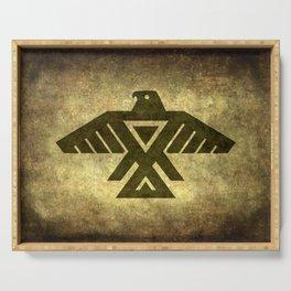 Symbol of the Anishinaabe, Ojibwe (Chippewa) on  parchment Serving Tray