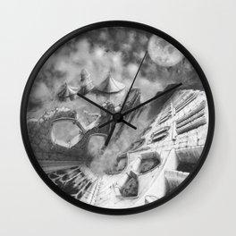 Twisted Moon Wall Clock