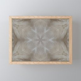 Snowflake Fibers Framed Mini Art Print