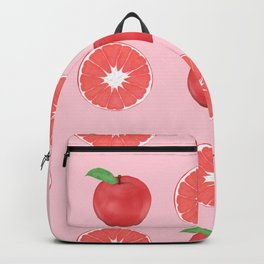 Summer Pink Apples and Grapefruits Pattern Backpack