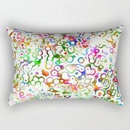 Abstract Microbes Rectangular Pillow