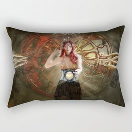 Time is the key Rectangular Pillow