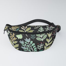 Dark Botanic Fanny Pack