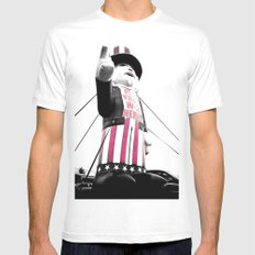 The Great Leader Mens Fitted Tee MEDIUM White