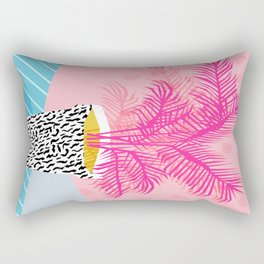 No Can Do - hipster abstract neon 1980s style memphis print palm springs socal los angeles desert Rectangular Pillow