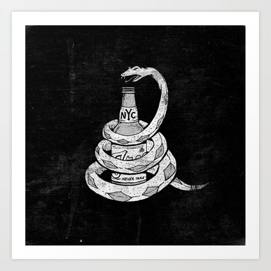 Don't Tread on My Booze Art Print
