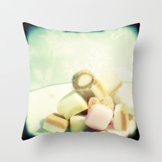 Dolly mixture Throw Pillow