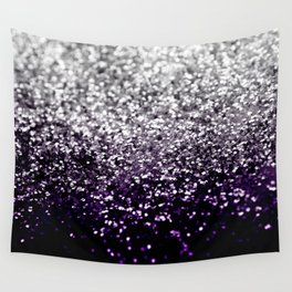 Dark Night Purple Black Silver Glitter #1 #shiny #decor #art #society6 Wall Tapestry