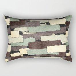 Textured Layers Abstract Rectangular Pillow