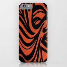 Orange & Black Waves iPhone 6s Slim Case