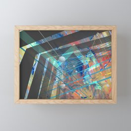 Abstract Constructed Experiment Framed Mini Art Print