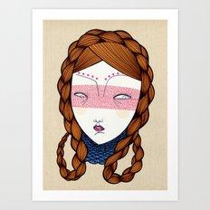 The red hair Art Print