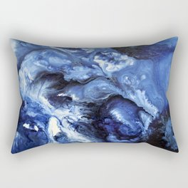 Swirling Blue Waters II - Painting Rectangular Pillow