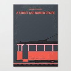 No397 My street car named desire minimal movie poster Canvas Print