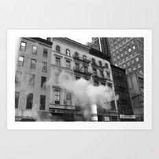 NY smoke Art Print