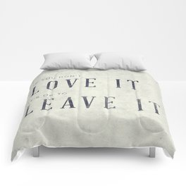 If you don't love it… A PSA for stressed creatives. Comforters