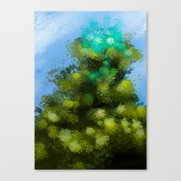 At the top of the tree (In cima all'albero) Canvas Print