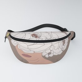 Woman with Peonies Fanny Pack