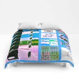 Coco No.5 Beauty Collage Blue Comforters