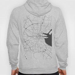 White on Grey Dublin Street Map Hoody