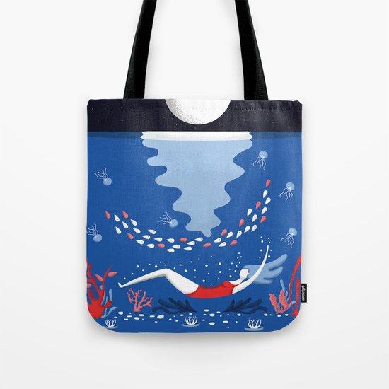 Ocean Flora Tote Bag