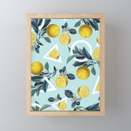 Geometric and Lemon pattern III Framed Mini Art Print