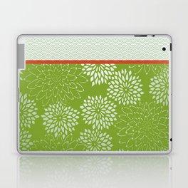 Dahlia Scallops Green and Orange Laptop & iPad Skin