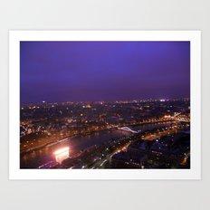 Paris At Night Art Print