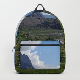 Alpine Valley Meadow Alps Mountains Landscape Backpack
