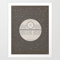 Death Star DS-1 Orbital Battle Station Art Print