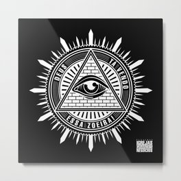 Deus ta vendo essa zoeira (Invertido) - PIGN Metal Print
