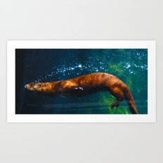 Otter Bubbles Art Print