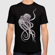 Cephalopod Black Mens Fitted Tee X-LARGE