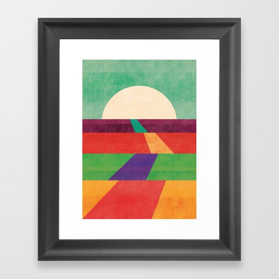 The path leads to forever Framed Art Print