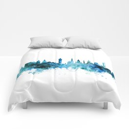 Glasgow Scotland Skyline Comforters