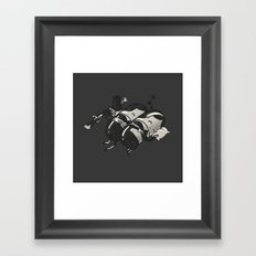 Sleeping Pillgrims Framed Art Print