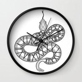 Roman numerals snake Wall Clock