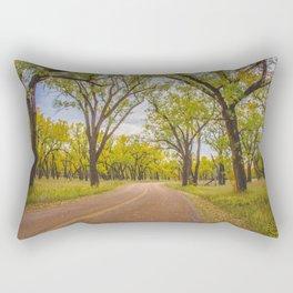 Cottonwoods, Theodore Roosevelt NP, ND 4 Rectangular Pillow