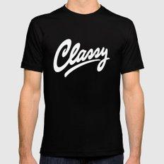 Classy Mens Fitted Tee MEDIUM Black