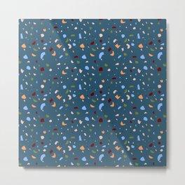 Terrazzo - Blue Metal Print