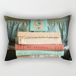 Vintage Suitcase - To Kill a Mockinbird / My Antonia Rectangular Pillow