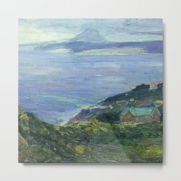 African American Masterpiece 'Coastal Landscape, France, 1912' by Henry Ossawa Tanner Metal Print